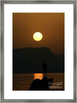 Sundown Silhouette Framed Print by Jerry L Barrett