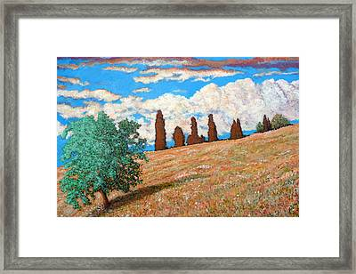 Framed Print featuring the painting Sundown by Tom Roderick