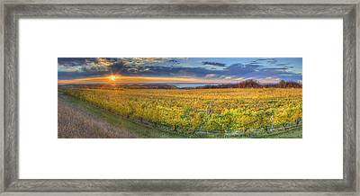 Sunet From Old Mission Framed Print