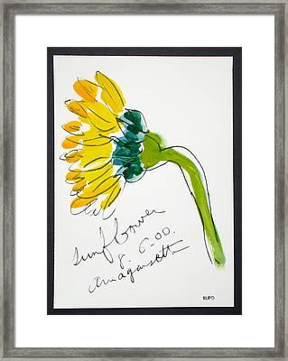 Sunflower Amagansett Framed Print by David Rufo