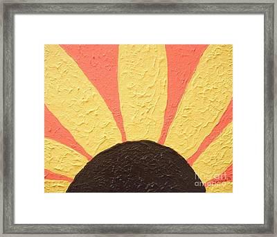 Sunflower Burst Framed Print by Jeannie Atwater Jordan Allen