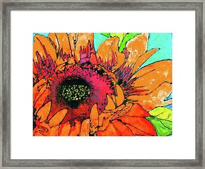 Sunflower Hues Framed Print