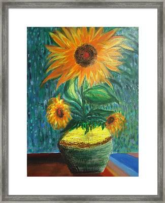 Sunflower In A Vase Framed Print