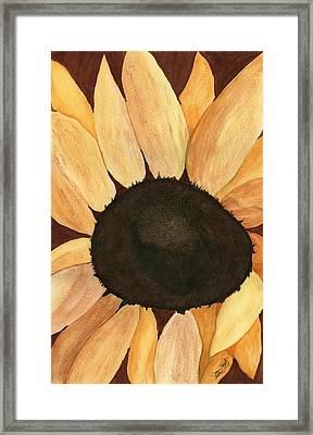 Sunflower Framed Print by Joan Zepf