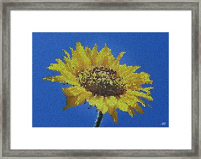 Sunflower Mosaic Framed Print
