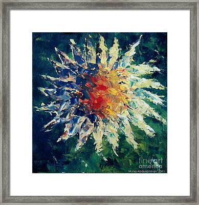 Sunflower Framed Print by Muna Abdurrahman