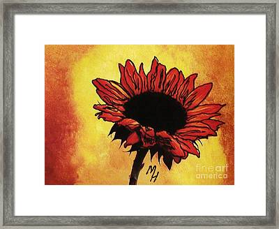 Sunflower Passion Framed Print