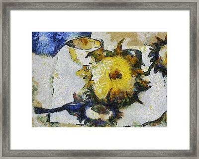 Sunflower Still Life Framed Print by Michelle Calkins