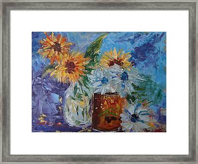 Sunflower Still Life Two Framed Print