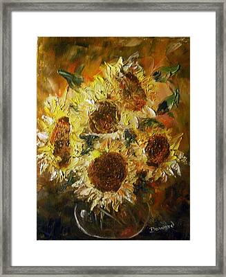 Sunflowers 2 Framed Print by Raymond Doward