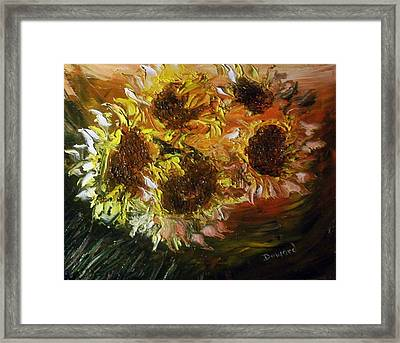 Sunflowers 3 Framed Print by Raymond Doward