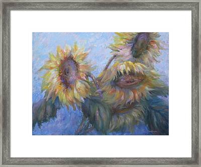 Sunflowers Framed Print by Bonnie Goedecke