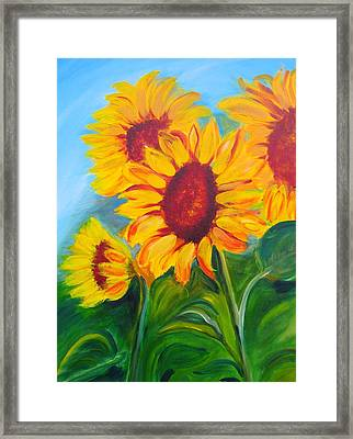 Sunflowers For California Lovers Framed Print by Dani Altieri Marinucci