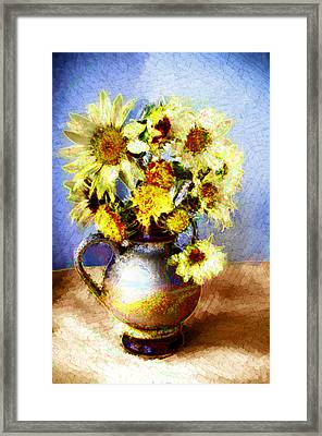 Sunflowers Framed Print by Heiko Mahr