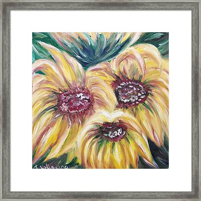 Sunflowers Framed Print by Irina Kalinkina