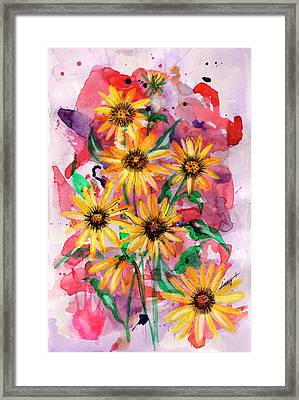 Sunflowers Framed Print by Linda Palmer