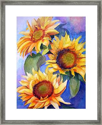 Sunflowers Framed Print by Lori Chase