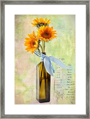 Sunflowers No 402 Framed Print by James Bethanis