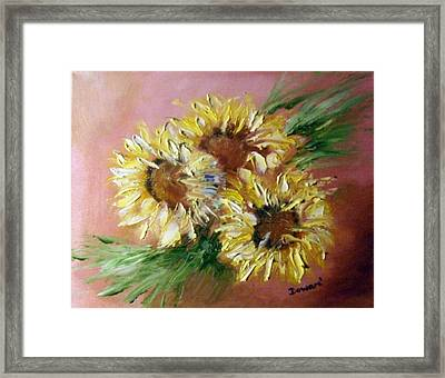 Sunflowers Framed Print by Raymond Doward