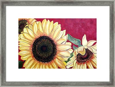 Sunflowers Three  Framed Print by Maria Soto Robbins