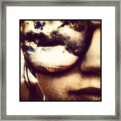 #sunglasses #me #myself #effects #edits Framed Print