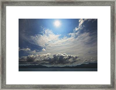 Sunlight And Cloud Framed Print
