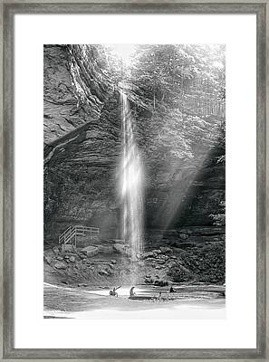 Framed Print featuring the photograph Sunlight Falls by Mary Almond