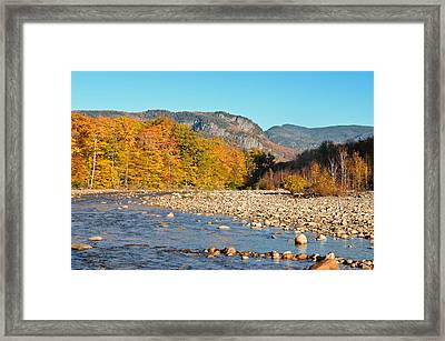 Sunlight On The Saco Framed Print by Geoffrey Bolte
