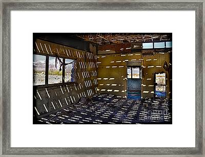 Sunlight Through Roof Slats Framed Print