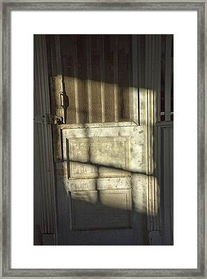 Sunlit Door Framed Print by Randall Nyhof