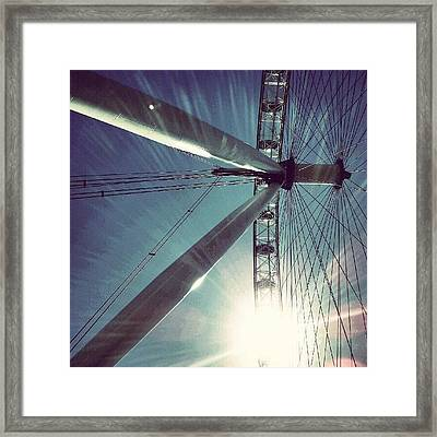 Sunnd Day In London, London Eye Framed Print by Abdelrahman Alawwad