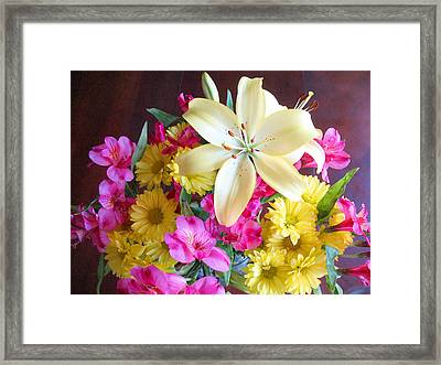 Sunny Bouquet Framed Print by Connie Fox