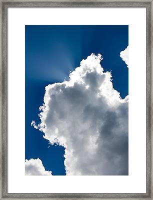 Sunny Cloud Framed Print