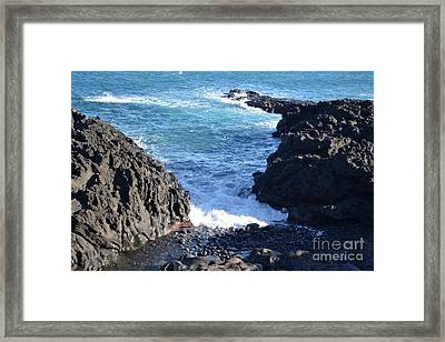 Sunny Day And Stormy Sea 3 Framed Print by Kathleen Pio