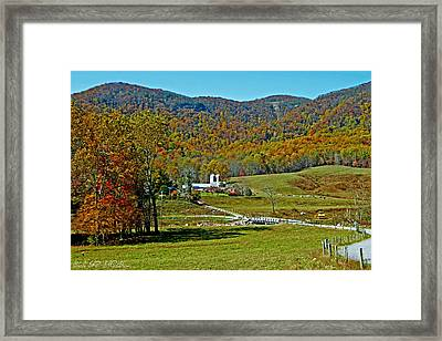 Sunny Day At The Blue Ridge Parkway Framed Print