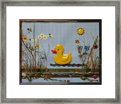 Sunny Duck Framed Print by Gracies Creations
