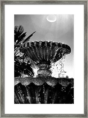Sunny Fountain Framed Print by Bob Wall
