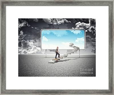 Sunny Future Framed Print
