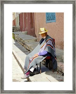 Sunny Grandpa II Framed Print