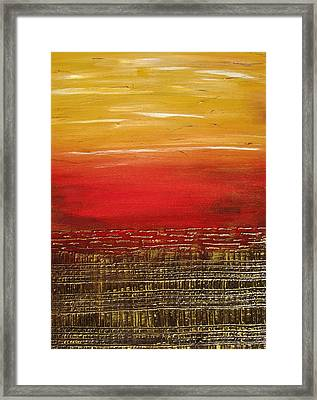 Sunny Horizon Framed Print by Kathy Sheeran