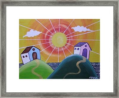 Sunny Framed Print by Monica Moser