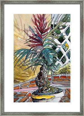 Sunny Palms Framed Print by Mindy Newman
