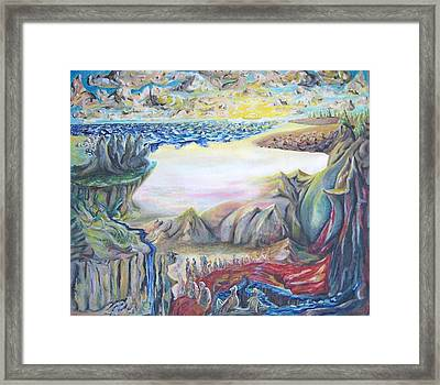 Sunny Side Up Down The River Framed Print by Timothy  Foley