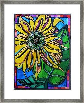 Sunny Sunflower Framed Print by Molly Williams