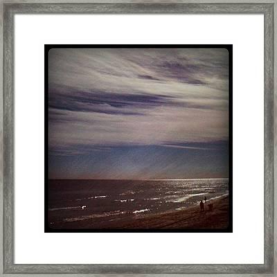 Sunny Winter Day. #ocean #beach #surf Framed Print
