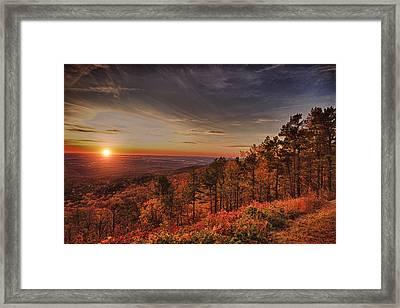 Sunrise 2-talimena Scenic Drive Arkansas Framed Print