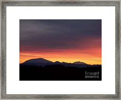 Framed Print featuring the photograph Sunrise 3 by Chalet Roome-Rigdon
