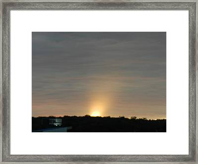 Sunrise 3 Framed Print by Dennis Leatherman