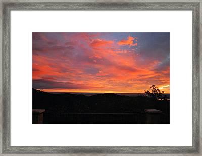 Sunrise Above Boulder-photo Framed Print
