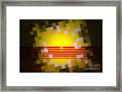 Sunrise Abstract Digital Painting  Framed Print by Heinz G Mielke